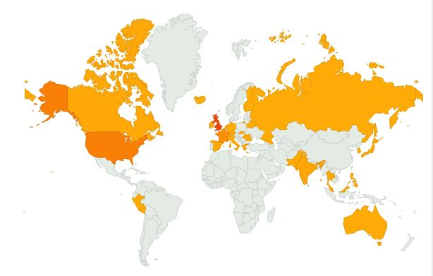 Sykes' Blog is now read in 30 different countries